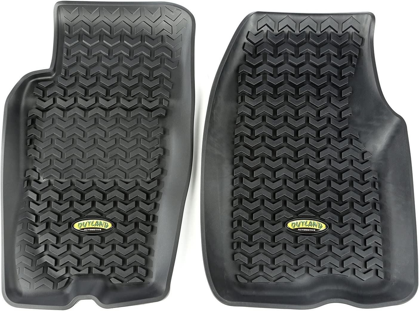 Outland 391292026 Black Front Row Floor Liner For Select Jeep Grand Cherokee Models