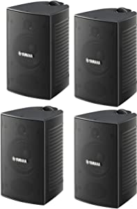 Yamaha High-Performance Natural Surround Sound 2-Way Indoor/Outdoor Weatherproof Home Theater Speakers (Set of 4)