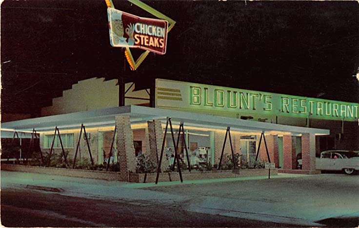 Carlsbad New Mexico Blounts Restaurant And Cafeteria Exterior Vintage PC V15189
