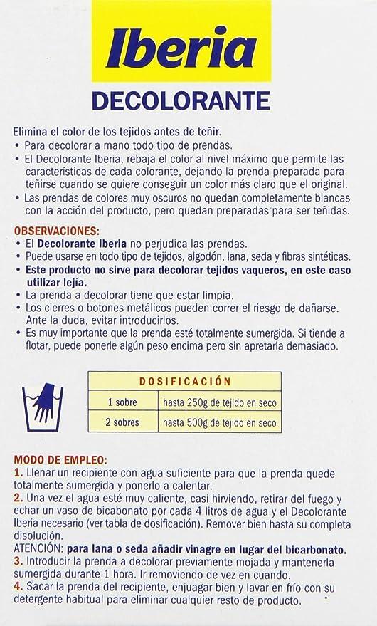 Iberia - Decolorante - Elimina el color de los tejidos antes ...