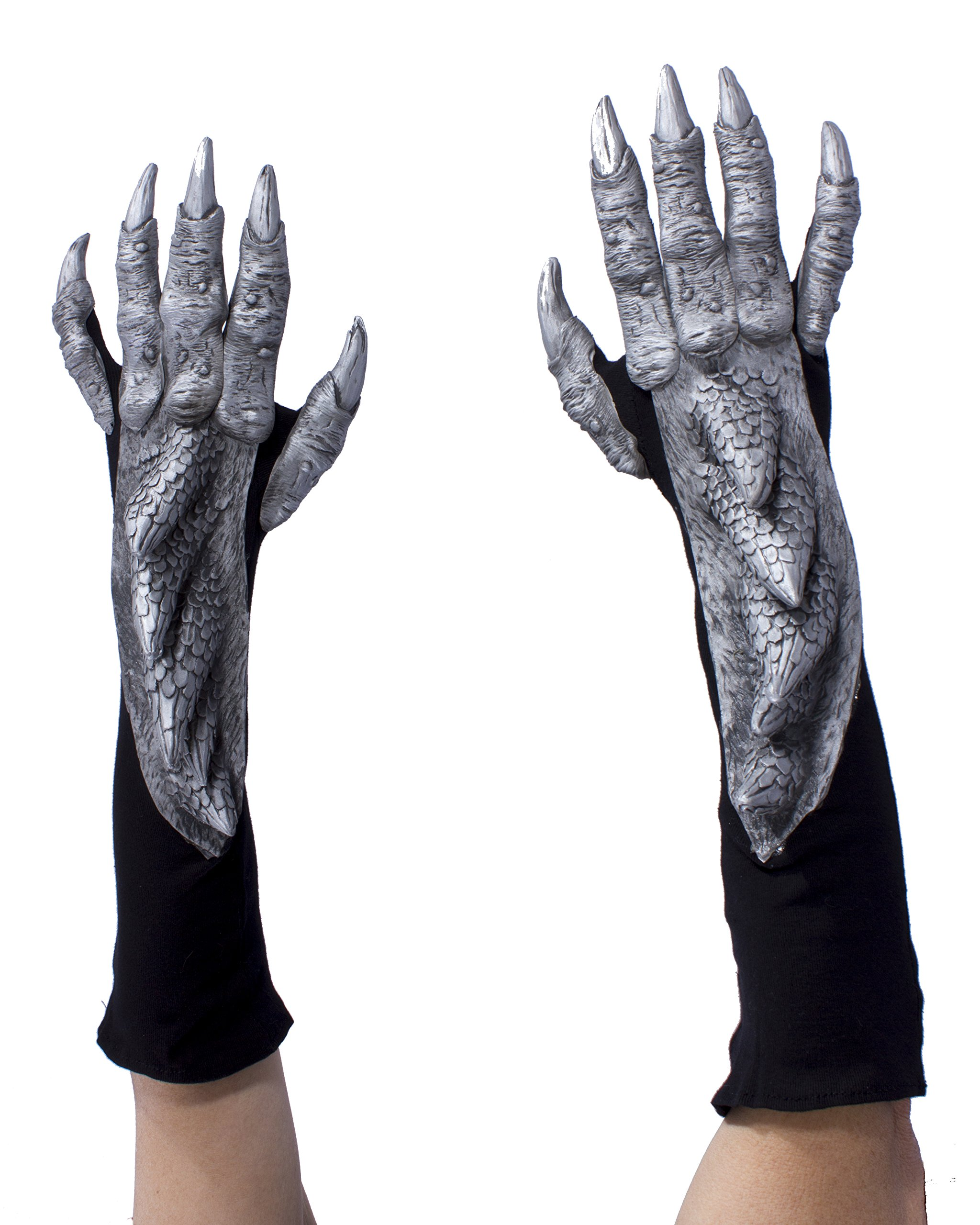 Zagone Studios Silver Dragon Gloves with Scales
