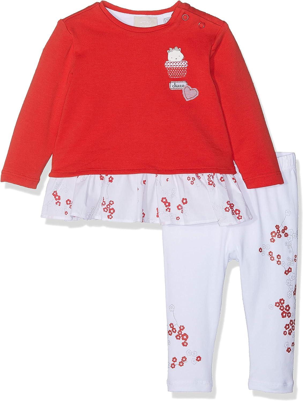 Chicco Baby-M/ädchen Completo T-Shirt Leggings Bekleidungsset