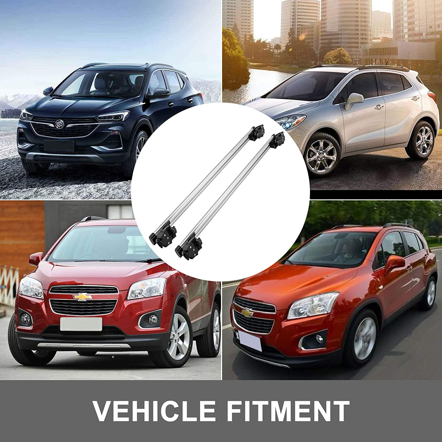Mophorn Roof Rack Crossbars 51.3 Length Cross Bars Roof Rack 2 pieces Roof Rack Cross Bars Silver Crosstrek Crossbars 3.9 Width for Buick Encore Chevrolet Trax 2013-2019