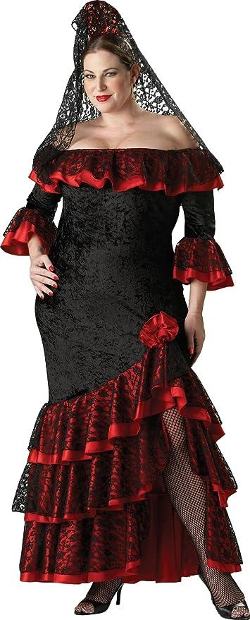 Disfraz de goyesca para mujer talla grande: Amazon.es ...
