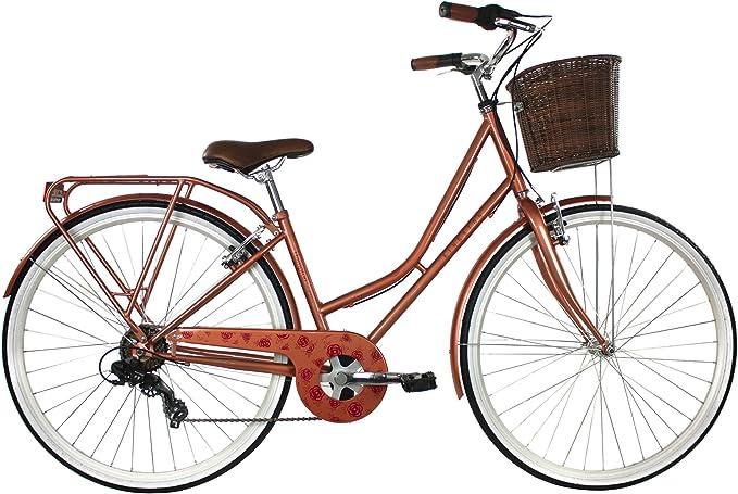 Kingston Hampton - Bicicleta de ciudad para mujer, color marrón ...