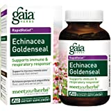 Gaia Herbs Echinacea Goldenseal, Vegan Liquid Capsules, 60 Count - Immune Support and Healthy Inflammatory Response During Seasonal Stress, Made with Organic Echinacea