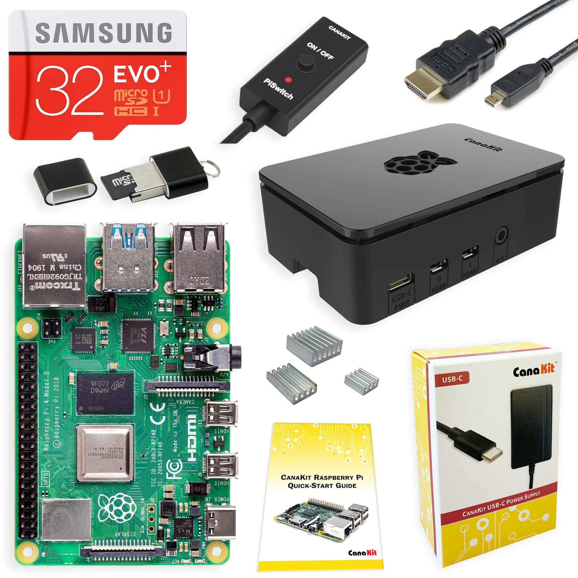 CanaKit Raspberry Pi 4 4GB Starter Kit - 4GB RAM by CanaKit