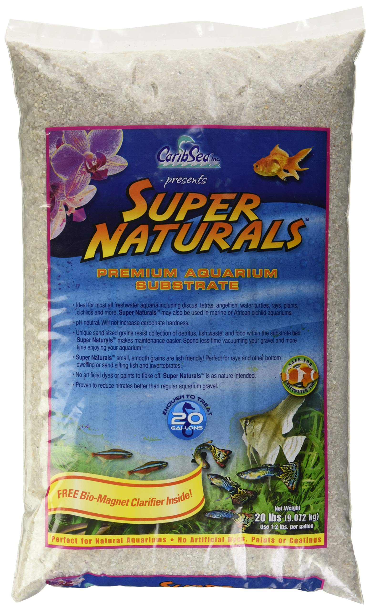 Caribsea Super Naturals Aquarium Sand, 20-Pound, Torpedo Beach by CaribSea Aquatics