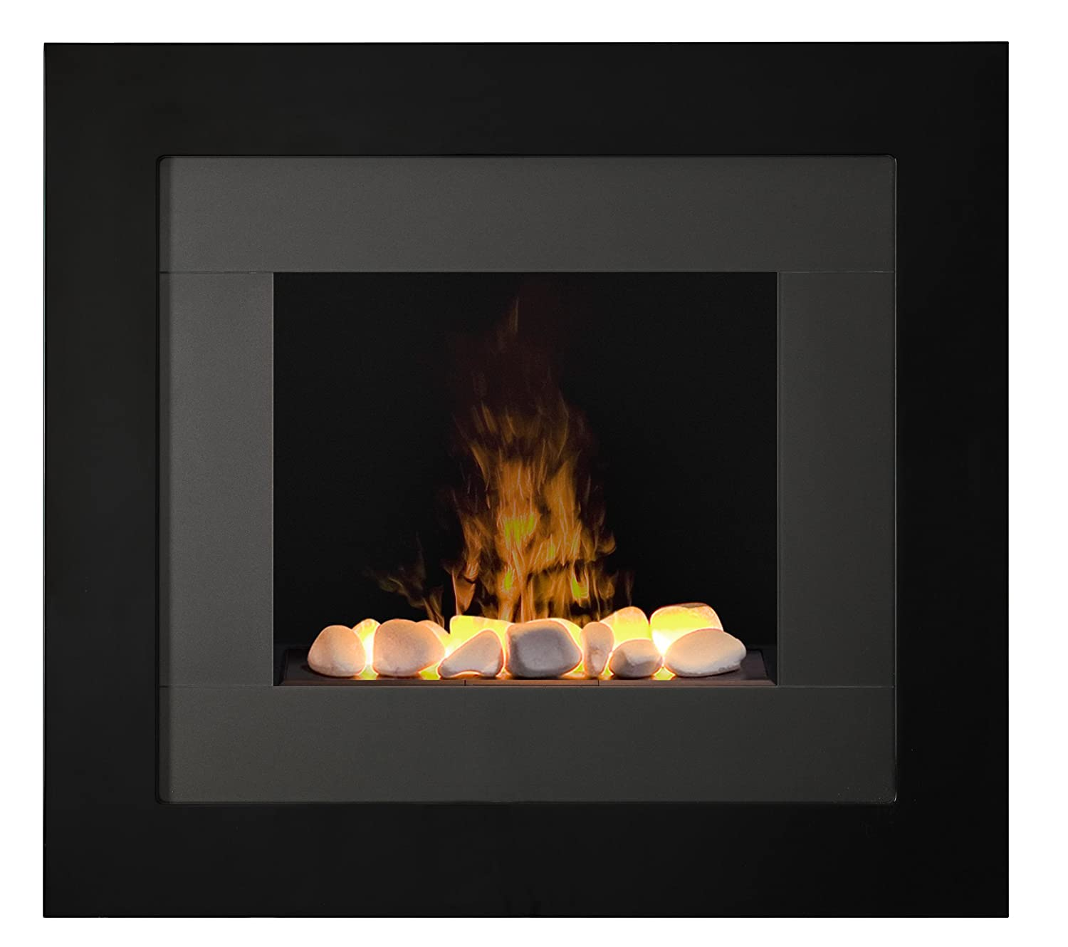 Dimplex RDY20R Redway Wall-Mounted Fireplace, Black