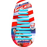 DIAGONAL ONE No Tie Shoelaces for Kids and Adults. Elastic Silicone Shoe Laces to Replace Your Shoe Strings. 20 Slip On Tiele