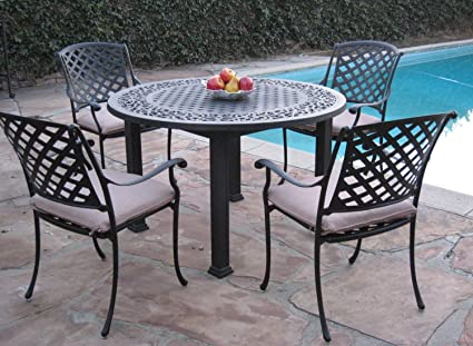 cbm outdoor cast aluminum patio furniture 5 pc dining set a cbm1290 - Cast Aluminum Patio Furniture