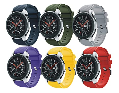 SongNi® for Samsung Galaxy Watch (46mm) Straps Correas [6 Pack] Soft Silicone Sport Replacement Strap Correa for Samsung Galaxy Watch (46mm) ...