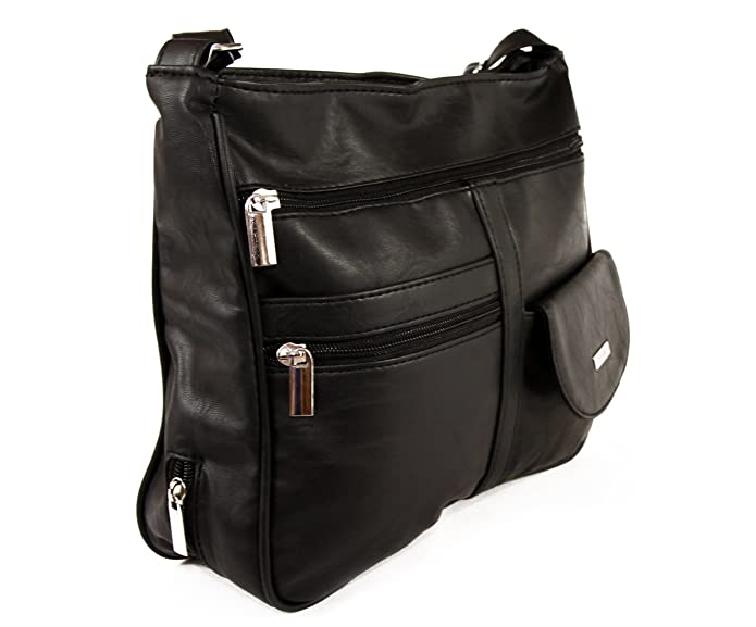 6ab9c59529 Una borsa tracolla elegante con molte tasche di cui anche per un ombrello.:  Amazon.it: Scarpe e borse