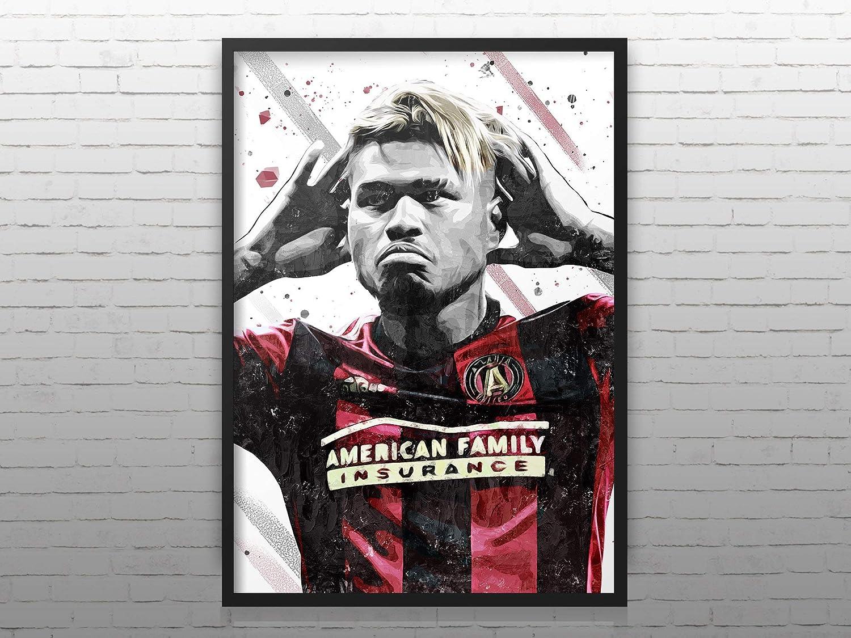 Football Wall Poster Watercolor Print Man Cave Josef Mart/ínez Poster Atlanta United Print Josef Mart/ínez Print Soccer Art Football Wall Art