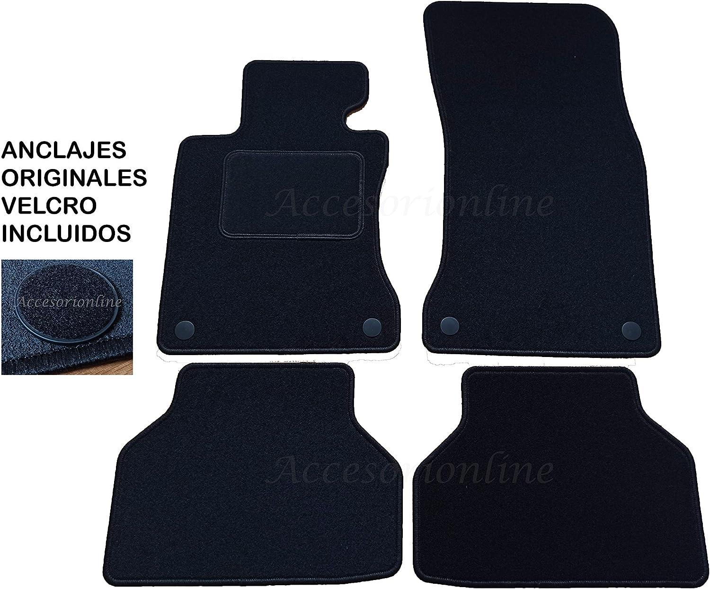 Accesorionline Alfombrillas para BMW Serie 5 2003-2010 a Medida con talonera E60 E61