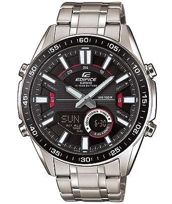 EDIFICE Reloj Analógico-Digital para Hombre de Cuarzo con Correa en Acero Inoxidable EFV-C100D-1AVEF: Amazon.es: Relojes