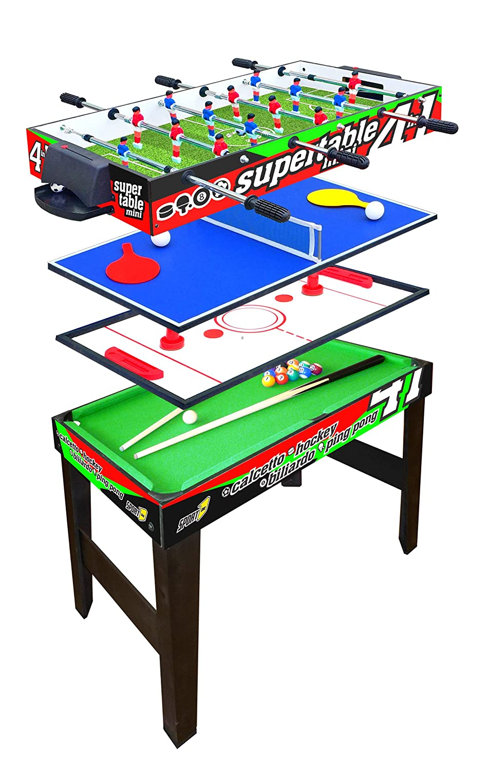 Tavolo Multigioco Sport One Mini Supertable - 4 Giochi in 1 SPORT ONE BY FORMA SRL
