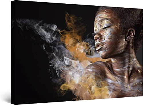 Startonight Canvas Wall Art Decor Abstract Woman and Dust Painting