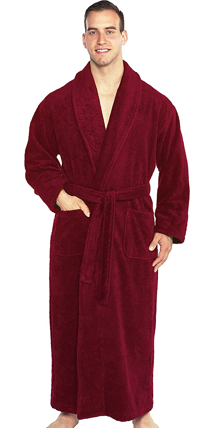 TurkishTowels Mens and Womens Original Terry Shawl Turkish Bathrobe