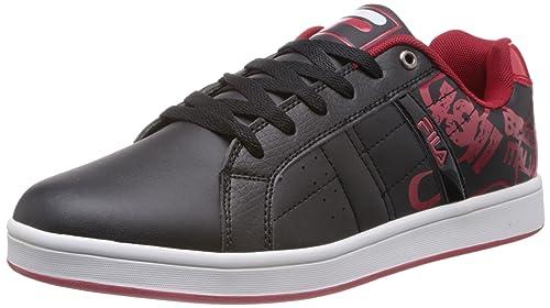 4b410418c0c6 Fila Men Flow Ii Black and Red Sneakers -11 UK India (45 EU)  Buy ...