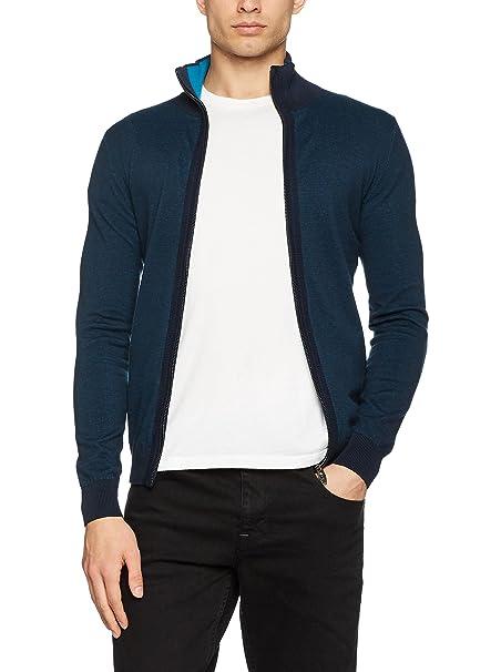 Tom Tailor 30219530010, Chaqueta Punto para Hombre, Azul, L