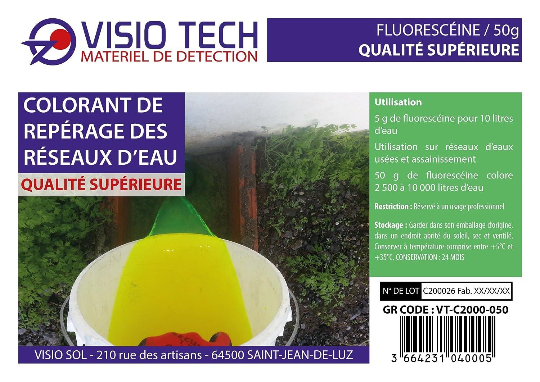 Fluoresce/ína en polvo soluble en agua Visio Tech 50 g