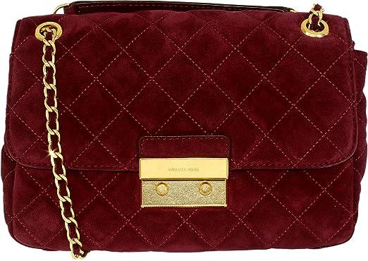 e127adea8566fc MICHAEL Michael Kors Sloan Large Chain Suede Shoulder Bag Plum ...