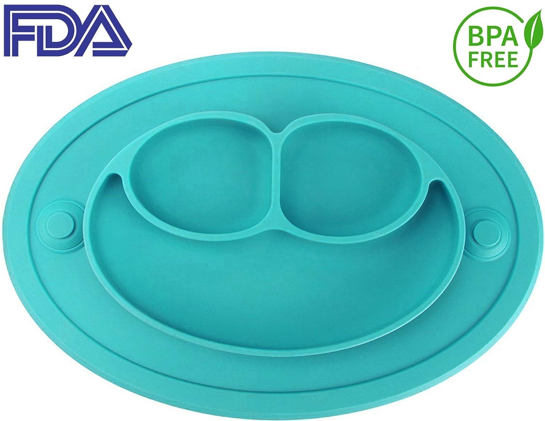 全国宅配無料 silikongシリコンサクションプレートfor Most Toddlers, Fits Most for Highchairトレイ B0763LRK9G、BPAフリー、Divided Babyプレースマット、Feeding Bowls Dishes for Kids B0763LRK9G, KOTEN:67dc75ce --- a0267596.xsph.ru