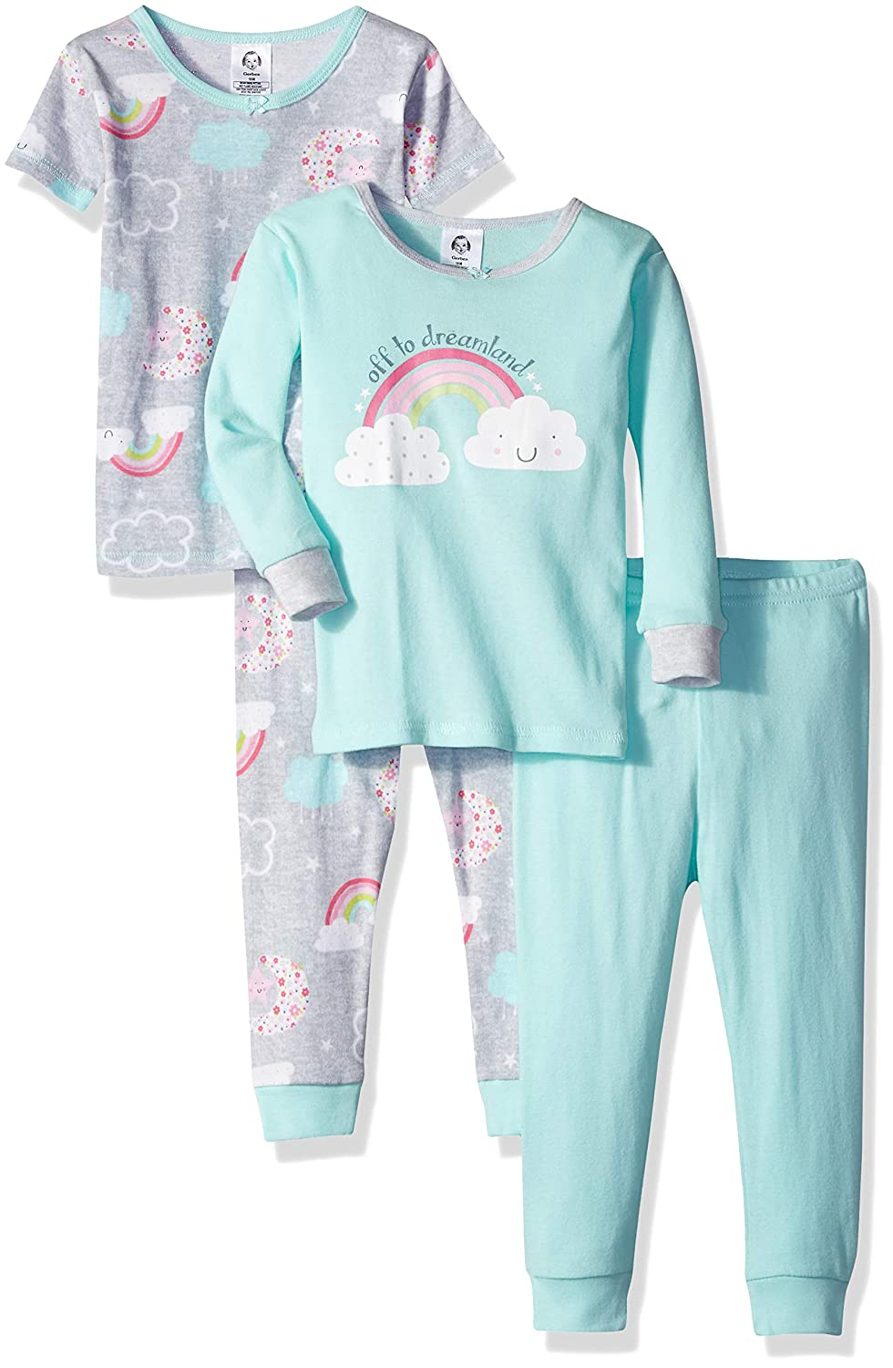 Gerber Baby Girls' 4-Piece Pajama Set Gerber Children' s Apparel