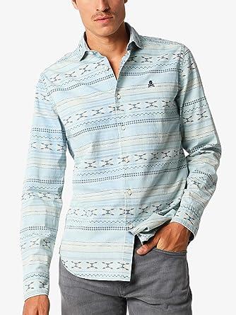 Scalpers Camisa Denim Motivos - Denim / 44: Amazon.es: Ropa y accesorios