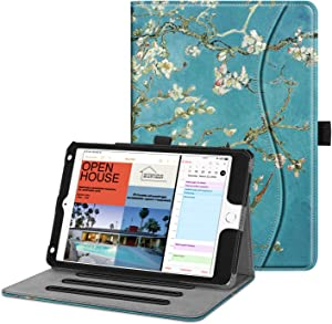 Fintie Case for iPad Mini 4 - [Corner Protection] Multi-Angle Viewing Folio Smart Stand Protective Cover with Pocket, Auto Wake/Sleep, Compatible with iPad Mini 5th Gen, Blossom
