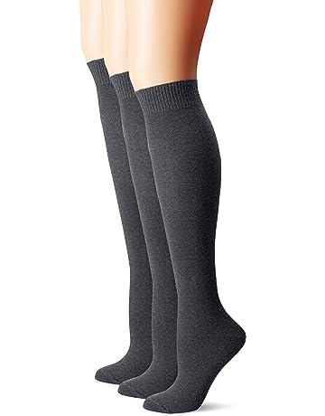3f91f21c4288d HUE Women's Flat Knit Knee Socks (Pack of ...