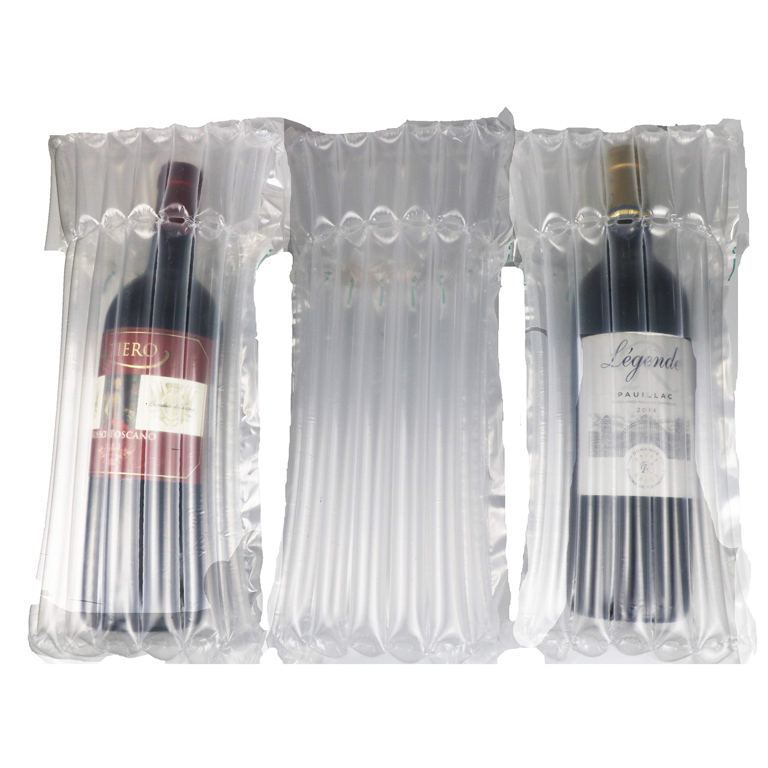 100 PCS Wine Bottle Protector Sleeve for Travel, Shipment. Inflatable Air Column Cushion Bag for Packing and Safe Transportation of Glass Bottles in Airplane Cushioning by Nowable (Image #1)