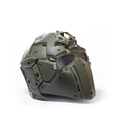 Militar-TLD Casco/Mascara Obsidian B con Montura Norotos Verde Od Combat Envio Desde