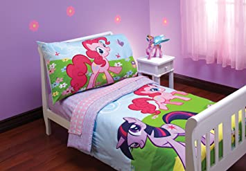 Hasbro My Little Pony 4 Piece Toddler Bedding Set (Discontinued By  Manufacturer)