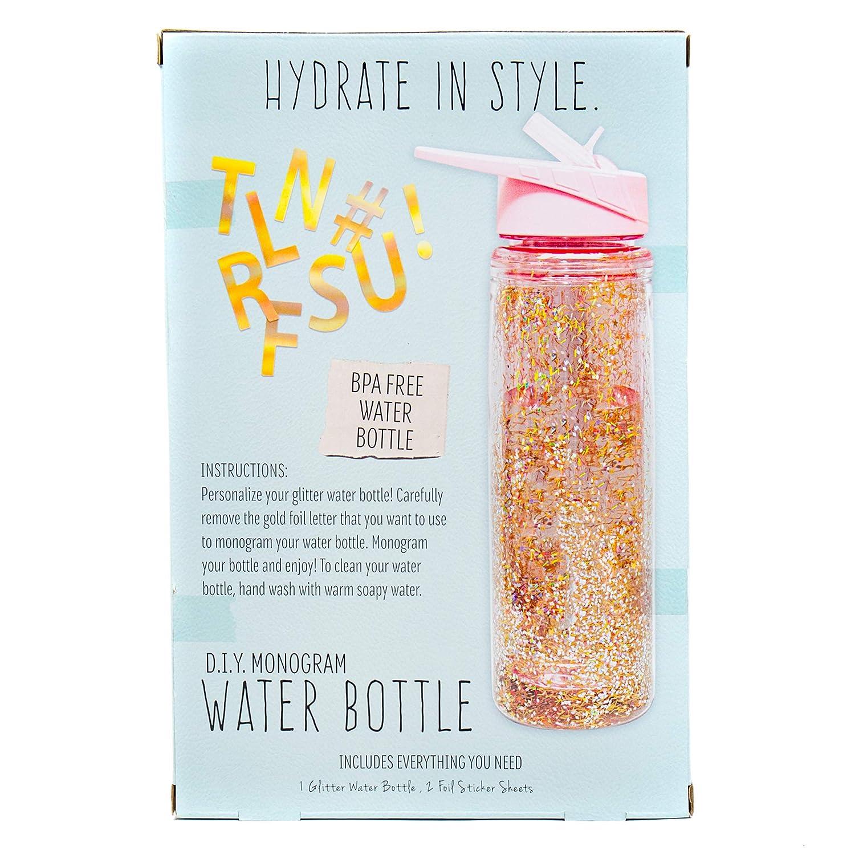 STMT DIY Monogram Water Bottle by Horizon Group USA, Assorted