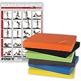 POWRX Balance Pad inkl. Workout Ideal Zum Training von Gleichgewicht, Stabilität und Koordinationstraining Verschiedene Farben