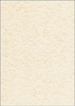 100 Blatt Urkundenpapier Marmor beige Sigel DP372 Design