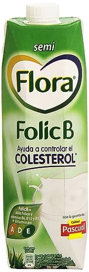 Flora - Leche Semidesnatada Folic B - 1 L