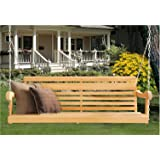 5 Ft LOUISIANA CYPRESS PORCH SWING Scandinavian Grandpa Style MADE from Hand selected Rot-resistant CYPRESS WOOD - Chains Included