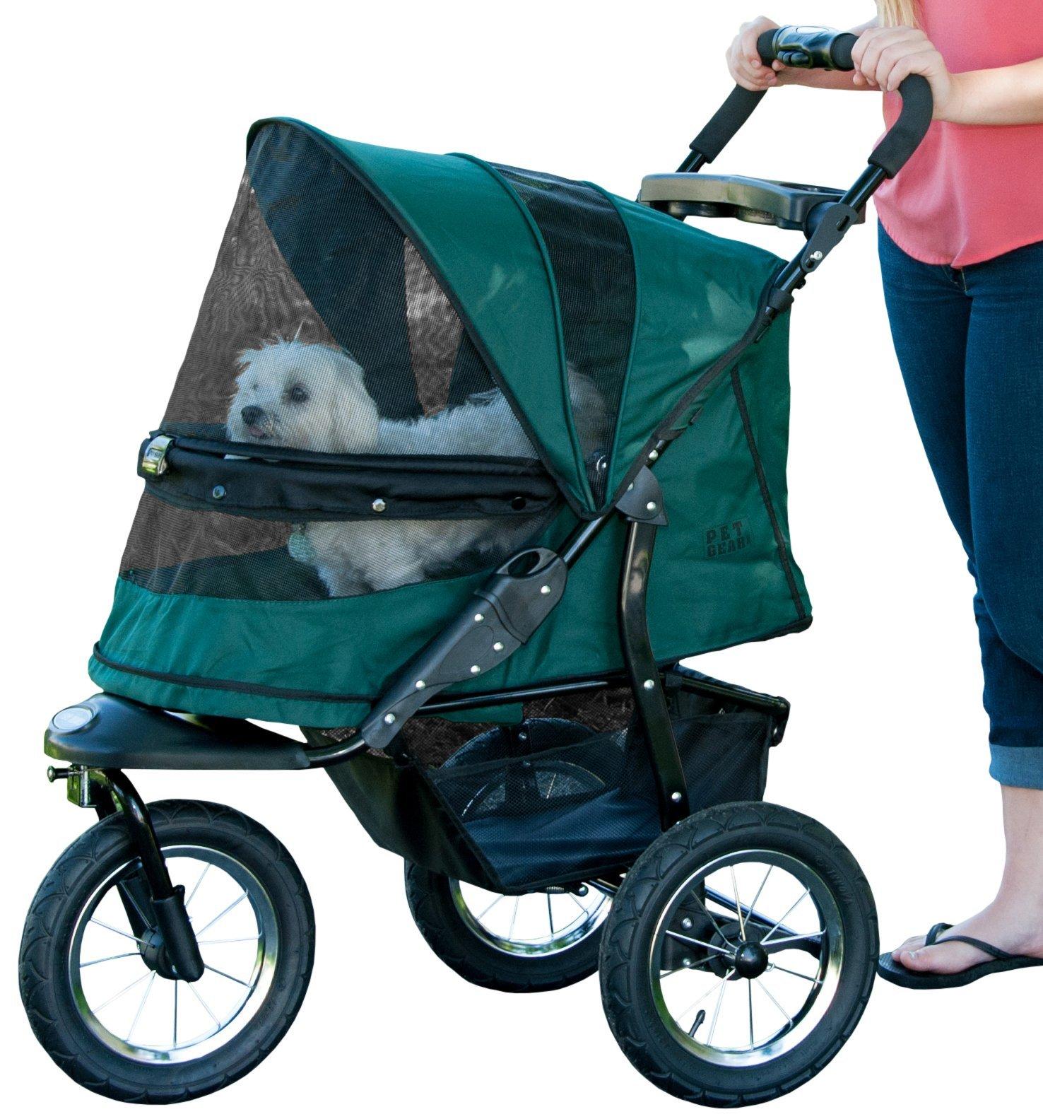 Pet Gear No-Zip Jogger Pet Stroller, Zipperless Entry, Forest Green