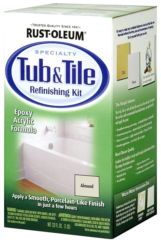 Amazon.com: Rustoleum 7861-519 Almond Tub & Tile Refinishing Kit ...