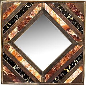 Sagebrook Home 12812 Wood Wall Mirror, 31.5 x 2 x 31.5, Multicolor