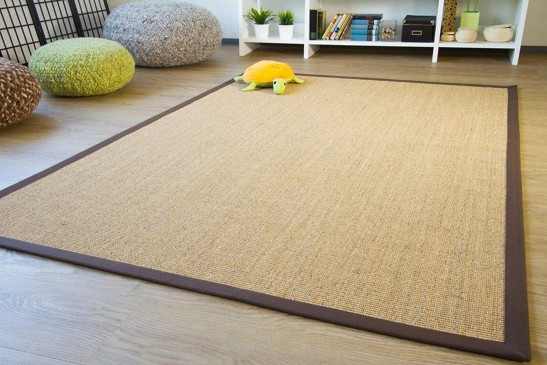 Sisal Teppich Brazil mit Bordüre Farbe natur beige Premium Qualität 100% Sisal, Größe  200x290 cm B00J9C5PGO Teppiche