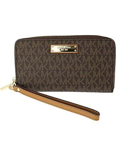 219d78a66d677b Michael Michael Kors Jet Set Travel Logo Smartphone Wristlet: Handbags:  Amazon.com
