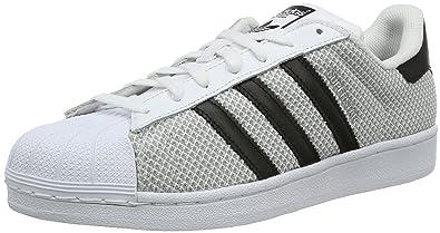 quality design 2192b 5670f adidas Superstar, Baskets Basses Mixte Adulte, Blanc (GreyMesh), 41