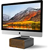 Twelve South HiRise Pro for iMac/ Displays/ Monitors   Height-adjustable stand w/ storage, reversible front + leather inlay