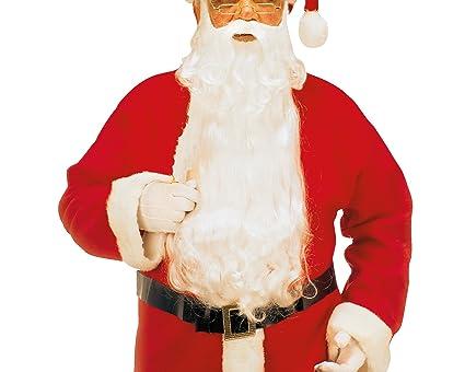 WIDMANN 1523 C Lujo Papá Noel, máxima de barba con bigote y cejas, color