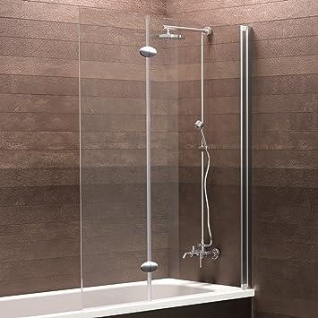 Schulte Mampara de bañera Cristal 2 Piezas 130 x 103,5 cm Hamburgo, 1 pieza, 4056397003809, 1 pieza, 1300 x 1035 mm, efecto cromo): Amazon.es: Bricolaje y herramientas