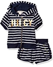 7cbcf22e9 Juicy Couture Girls  2 Pieces Hoody Shorts Set